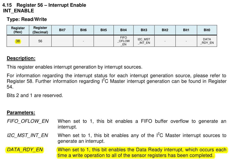 INT_ENABLE register in section 4.15 of the register map and descriptions datasheet.