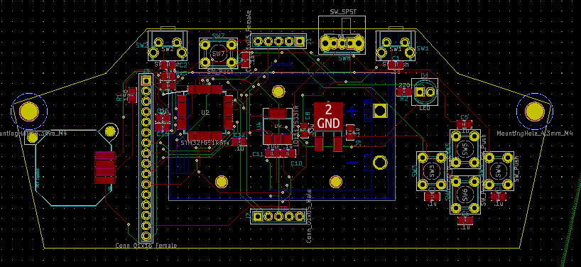 The pcb for the controller.